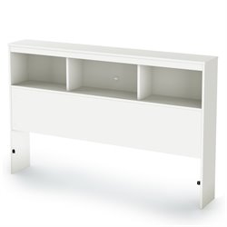 South Shore Karma Full Bookcase Headboard in Pure White