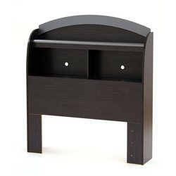 South Shore Lazer Twin Bookcase Headboard in Black Onyx