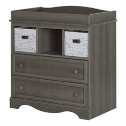 South Shore Savannah Changing Table in Gray Maple