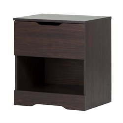 South Shore Holland Nightstand in Red Brown Oak
