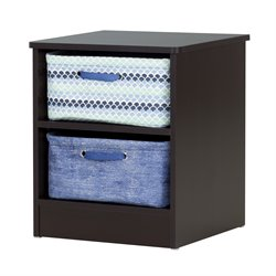 South Shore Libra Nightstand in Chocolate