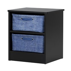 South Shore Libra Nightstand in Pure Black