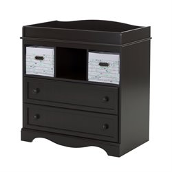 South Shore Savannah 2 Drawer Changing Table in Espresso