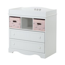 South Shore Savannah 2 Drawer Changing Table in Pure White