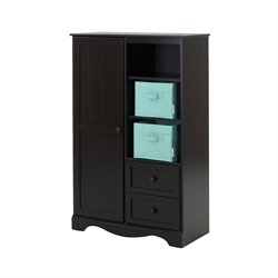 South Shore Savannah 2 Drawer Armoire in Espresso