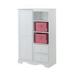 South Shore Savannah 2 Drawer Armoire in Pure White