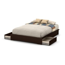 Basic Platform Bed in Chocolate