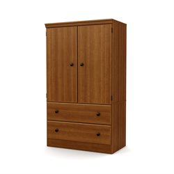 South Shore Morgan 2 Drawer Armoire in Morgan Cherry