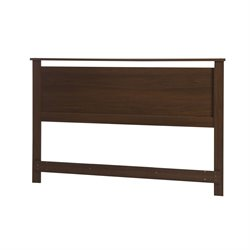 South Shore Primo Full Queen Headboard in Brown Walnut