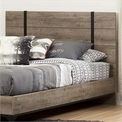 South Shore Valet Queen Panel Headboard in Weathered Oak
