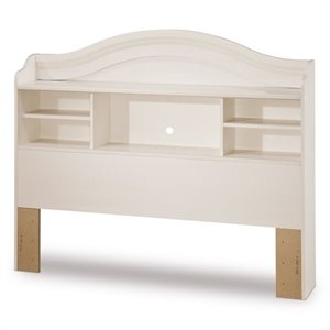 South S Summer Breeze Bookcase Headboard In White