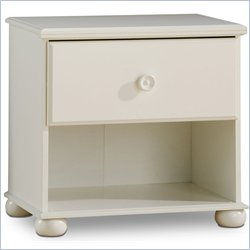 South Shore Sand Castle Kids Night Table in Pure White Finish