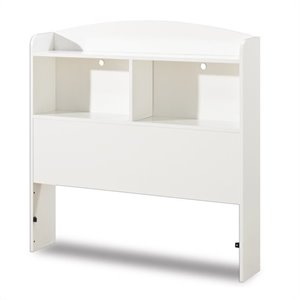 South Shore Logik Twin Bookcase Headboard in White