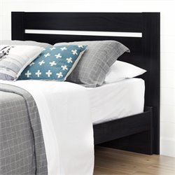 South Shore Reevo Full-Queen Headboard in Black Onyx
