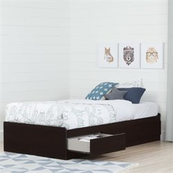 South Shore Twin Mates Bed in Chocolate