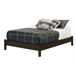 South Shore Fynn Full Platform Bed in Brown Oak