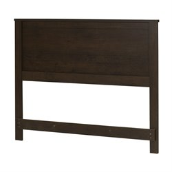 South Shore Fynn Full Headboard in Brown Oak
