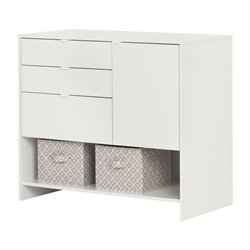 South Shore Crea 3 Drawer Storage Cabinet in Pure White
