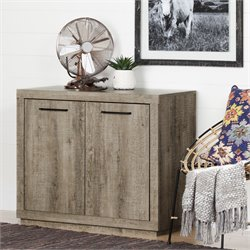 South Shore Kanji Storage Cabinet in Weathered Oak