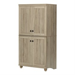 South Shore Hopedale 4 Door Armoire in Rustic Oak