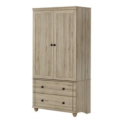 South Shore Hopedale 2 Drawer Armoire