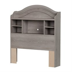 South Shore Savannah Twin Bookcase Headboard in Sand Oak