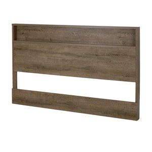 South Shore Holland Full or Queen Panel Headboard in Weathered Oak