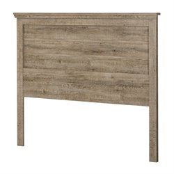 South Shore Lionel Queen Headboard in Weathered Oak