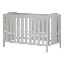 South Shore Angel Crib and Toddlers Bed in Soft Gray