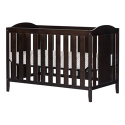 South Shore Angel Crib and Toddlers Bed with Mattress in Espresso