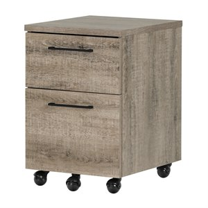 South Shore Munich 2 Drawer File Cabinet in Weathered Oak
