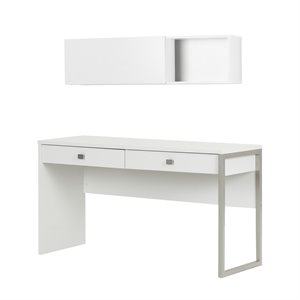 South Shore Interface 2 Piece Office Set in Pure White