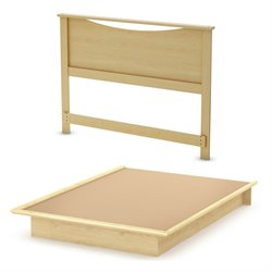 South Shore Step One Queen Panel Platform Bed
