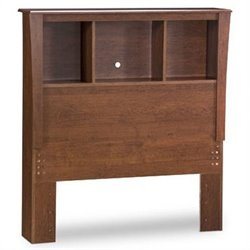 South Shore Mika Twin Bookcase Headboard in Cherry