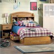 South Shore Prairie Kids Twin Wood Bookcase Bed 3 Piece Bedroom Set in Country Pine
