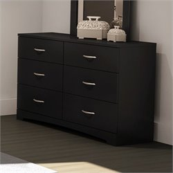 South Shore Maddox Dresser in Pure Black