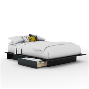 Maddox Step One Queen Storage Platform Bed in Black