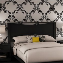 South Shore Maddox Contemporary Full / Queen Panel Headboard in Black