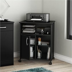 South Shore Axess Printer Stand in Pure Black