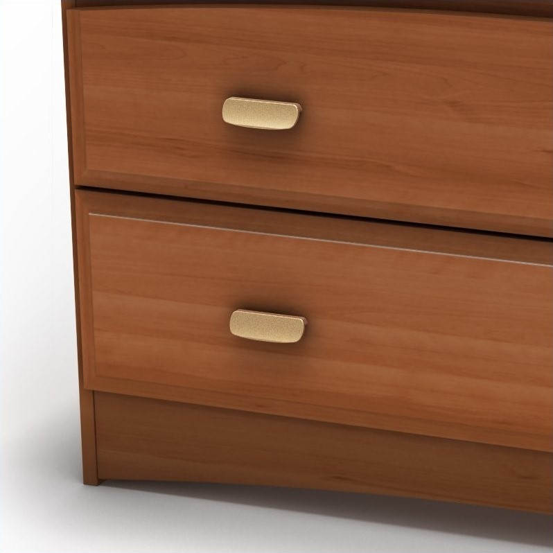 South Shore Imagine Kids Transitional 2 Drawer Wood Media Chest in Morgan Cherry Finish
