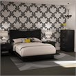 Maddox Queen Platform Bed Set in Pure Black Finish