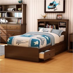 South Shore Nathan Twin Mates Bed in Cherry