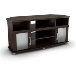 South Shore City Life Corner LCD TV Stand in Chocolate Finish