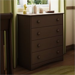 South Shore Furniture Angel 4 Drawer Chest in Espresso