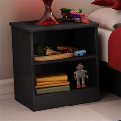 South Shore Libra Kids Nightstand in Pure Black