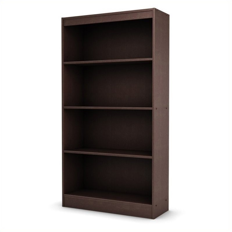 South Shore Axess 4 Shelf Bookcase in Chocolate