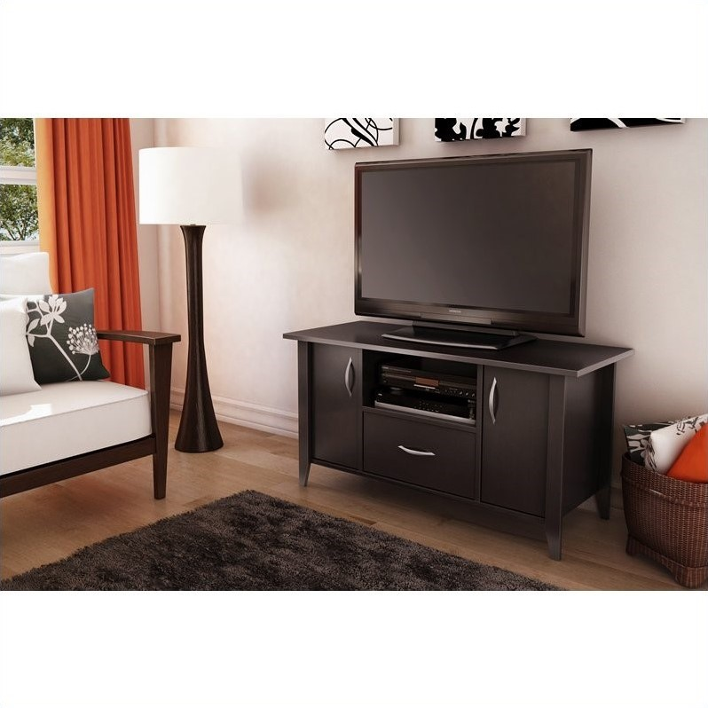South Shore Axess TV Stand in Chocolate Finish