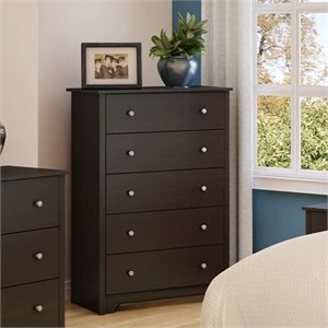 South Shore Breakwater 5 Drawer Chest in Chocolate Finish