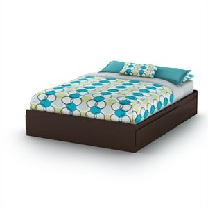 South Shore Breakwater Queen Storage Bed with Drawers in Chocolate