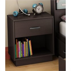 South Shore Logik Nightstand in Chocolate Finish